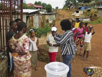 Voluntaria en Sierra Leona