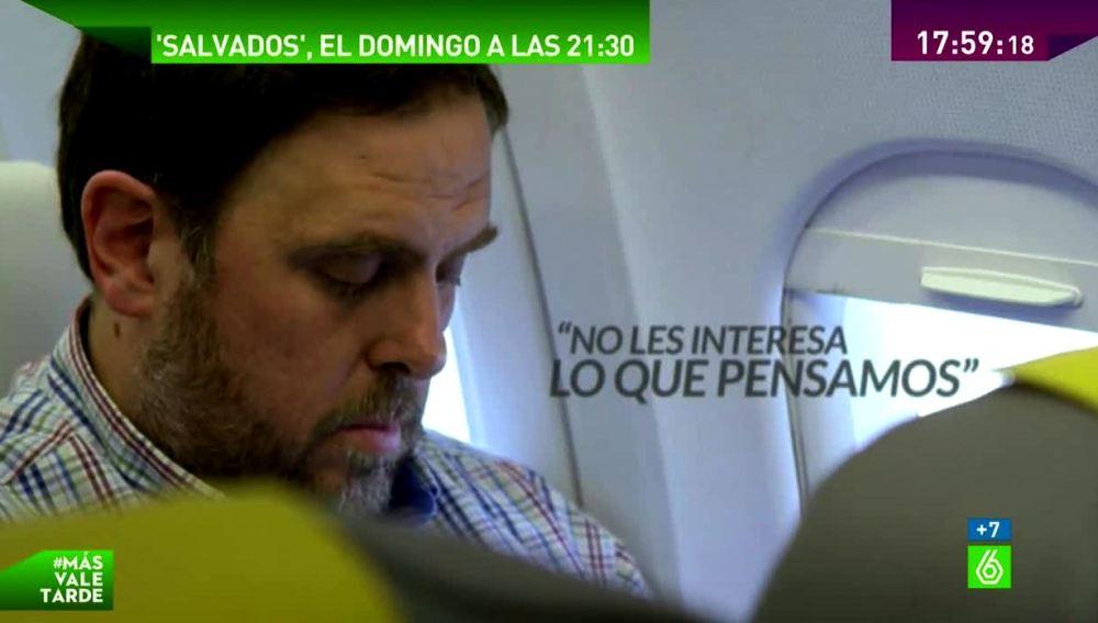 Oriol Junqueras, inicio de Salvados
