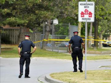 Imagen de archivo de agentes de policía de Canadá