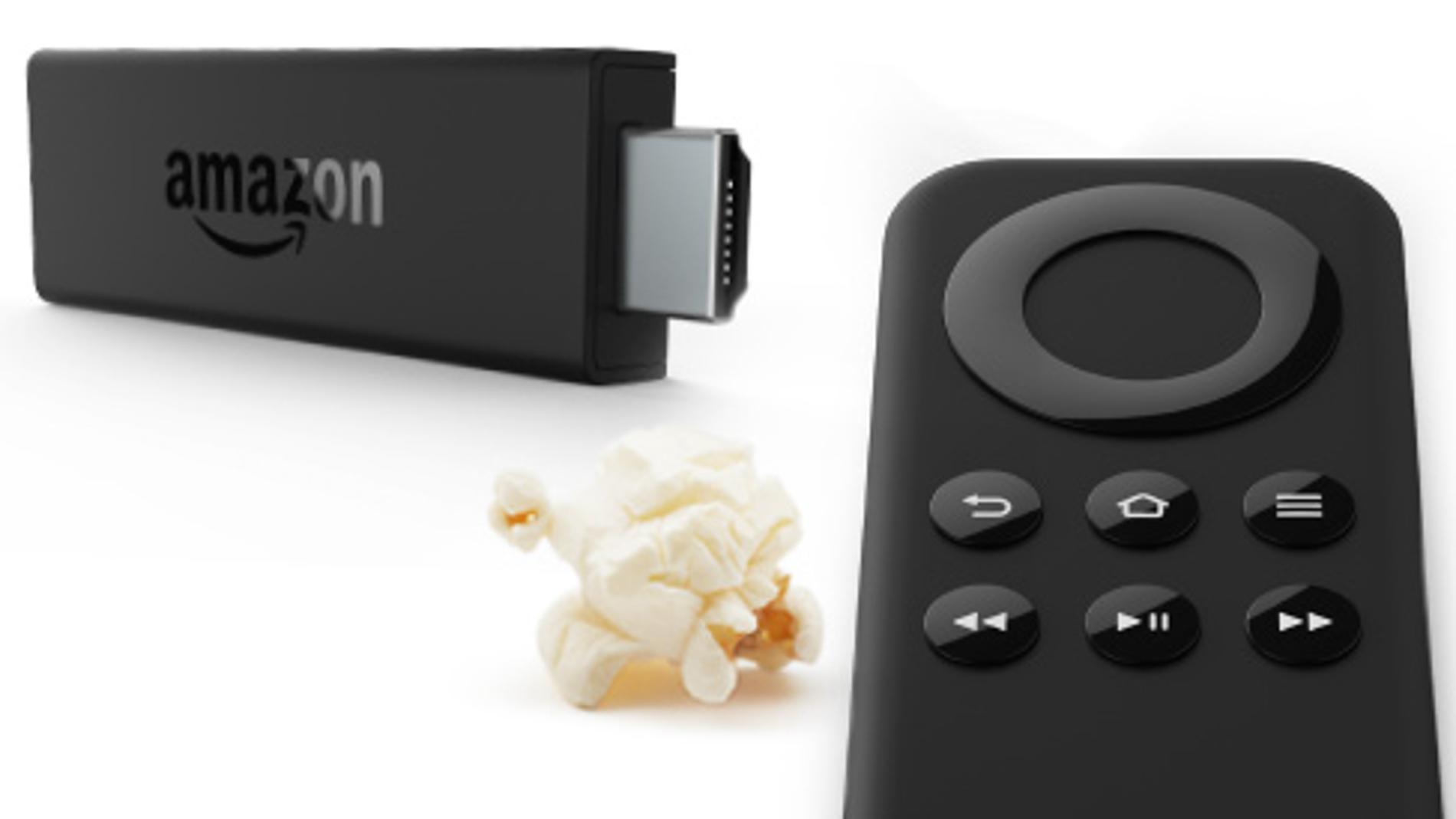 El Fire TV Stick viene acompañado de un mando a distancia