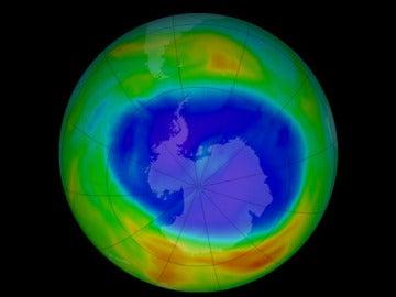 Agujero en la capa de ozono en la Antártida