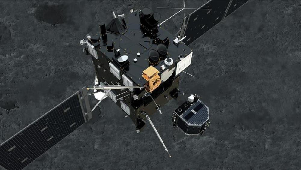Philae separándose de Rosetta