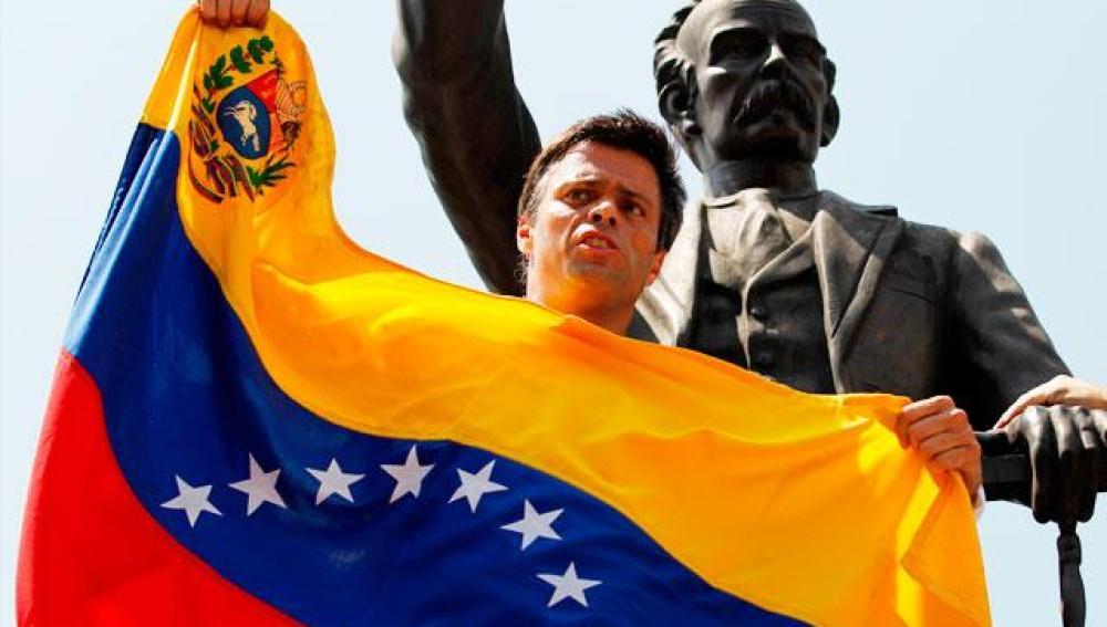 Leopoldo López antes de entregarse a la justicia el 18 de febrero
