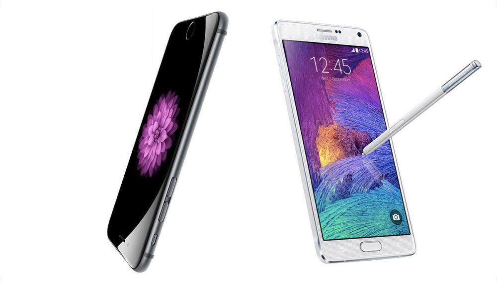 iPhone 6 Plus y Samsung Galaxy Note 4