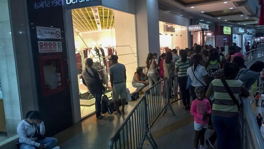 Entrada a una tienda Bershka en Venezuela