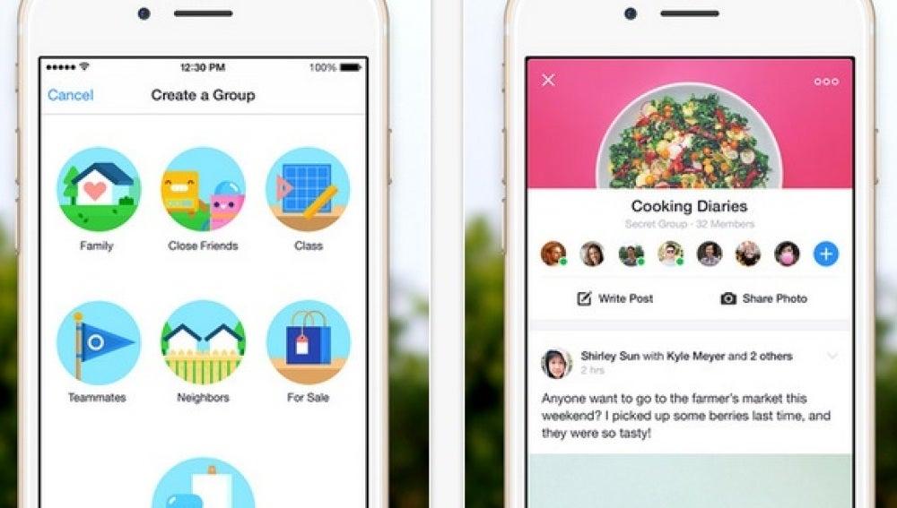 Nueva aplicación para los grupos de Facebook