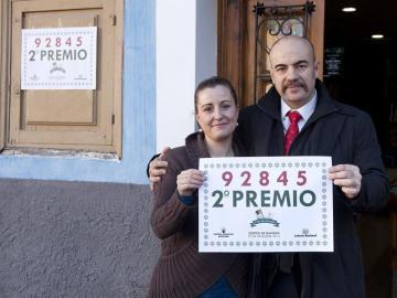 Parte del segundo premio de la Lotería de Navidad en Cuenca