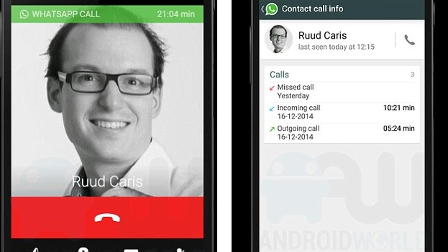 Así serán las llamadas de Whatsapp