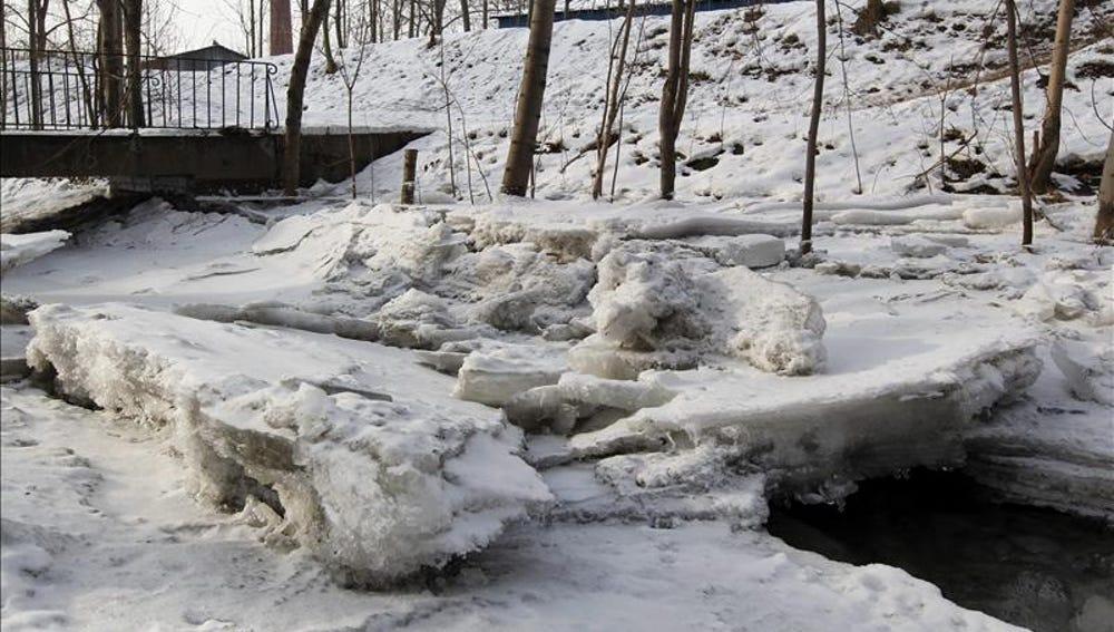 Un río helado