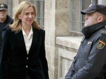 Infanta Cristina en los juzgados de Palma