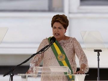 Dilma Roussef en su discurso de investidura