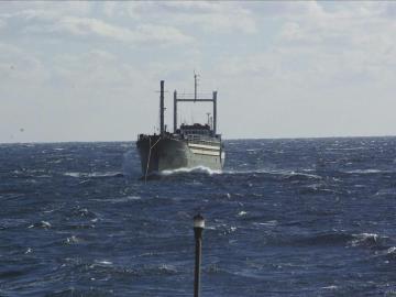Barco con centenares de inmigrantes a bordo