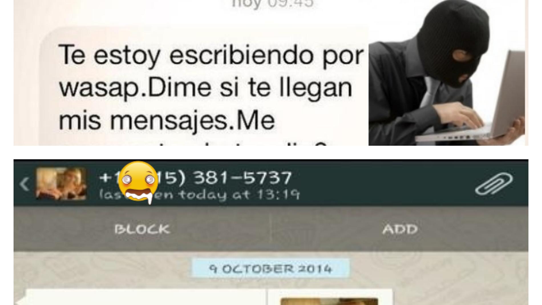 Mensajes fraudulentos en Whatsapp