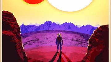 Imagen ficticia de un explaneta