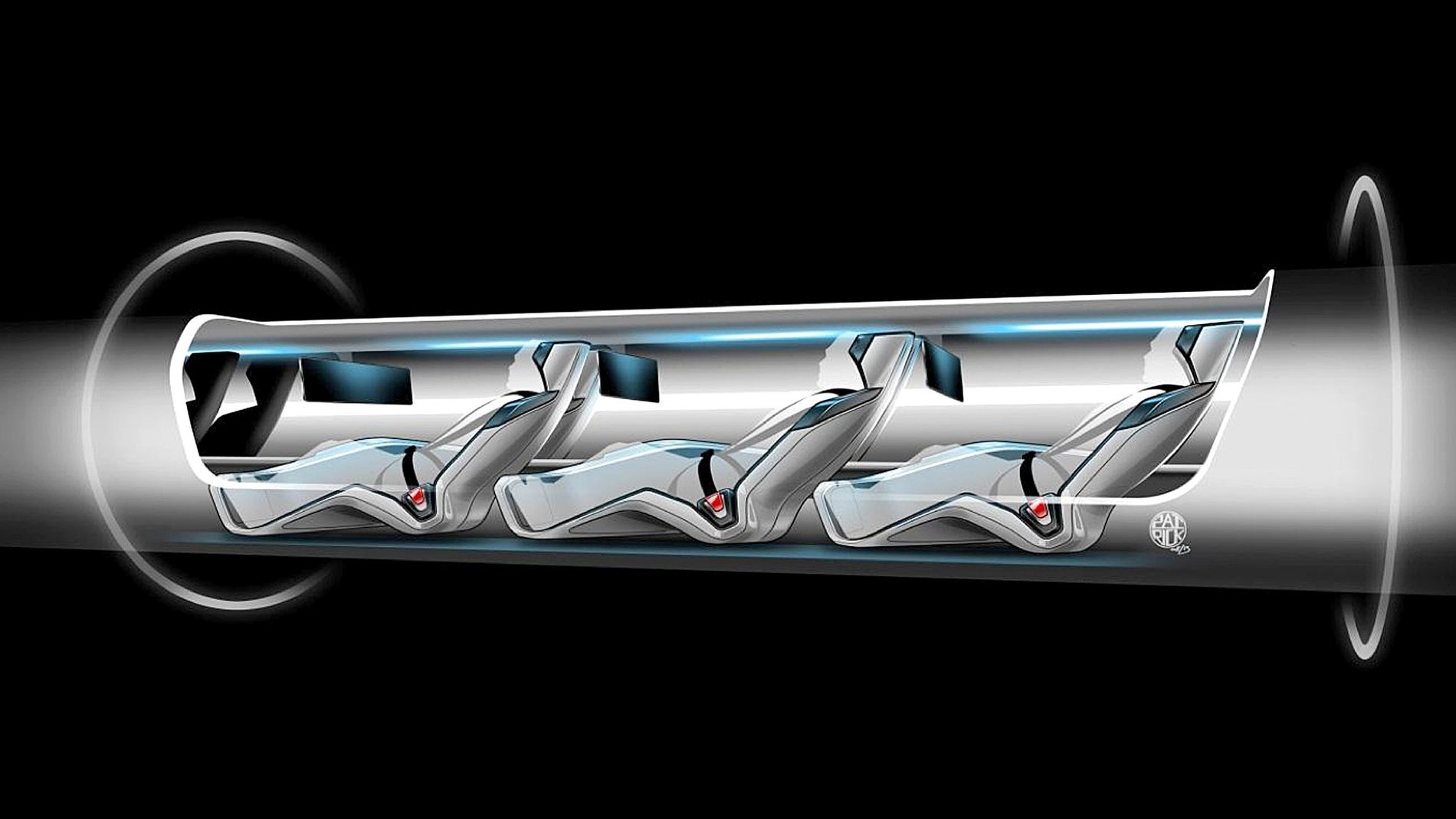Modelo del coche futurista Hyperloop
