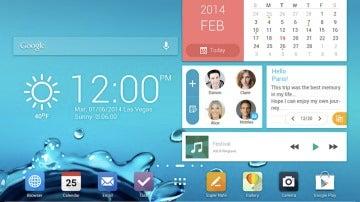 Diseño de escritorio de una tablet Android