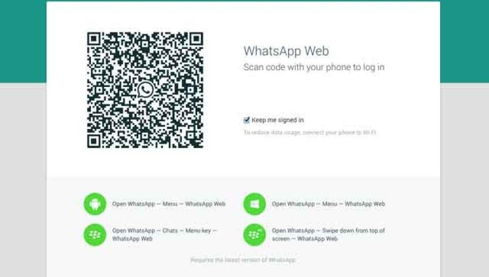 WhatsApp versión web