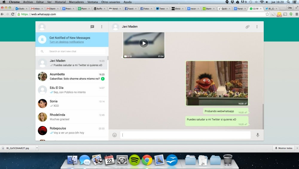 Whatsapp Web en un Mac