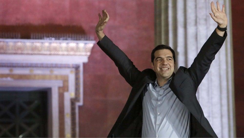 Alexis Tsipras celebra su victoria