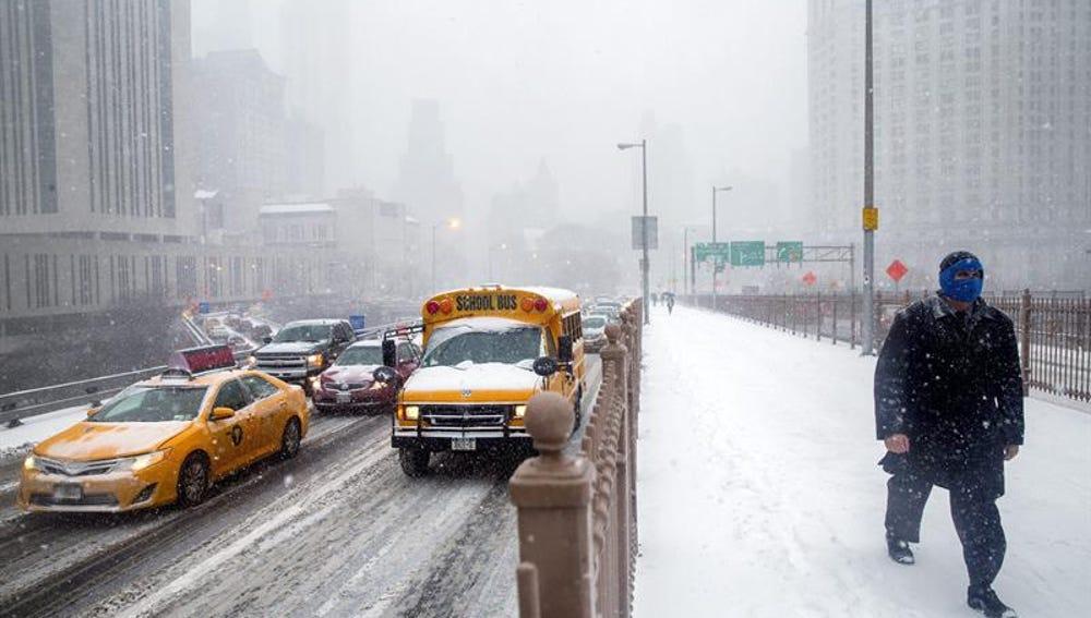 Imágenes de Nueva York durante el temporal