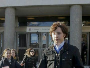 Francisco Nicolás a la salida de los juzgados de Plaza Castilla