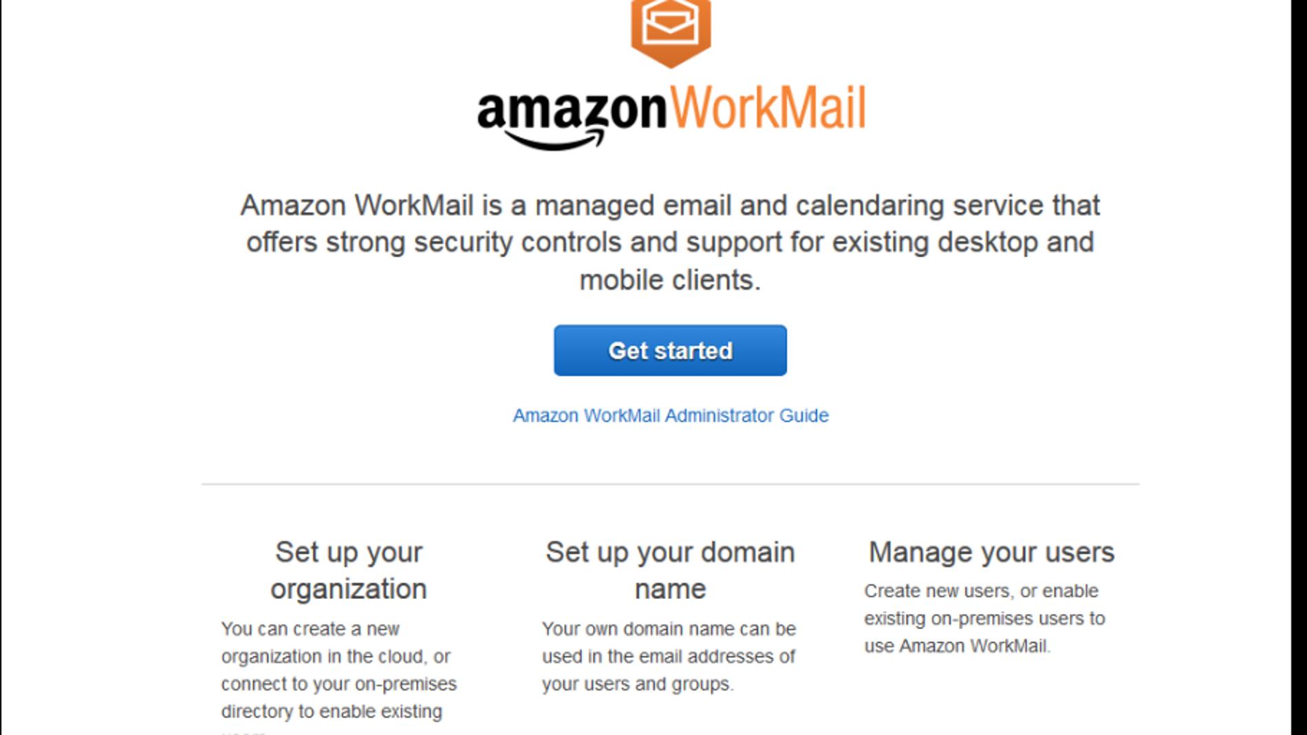 Workmail, de Amazon