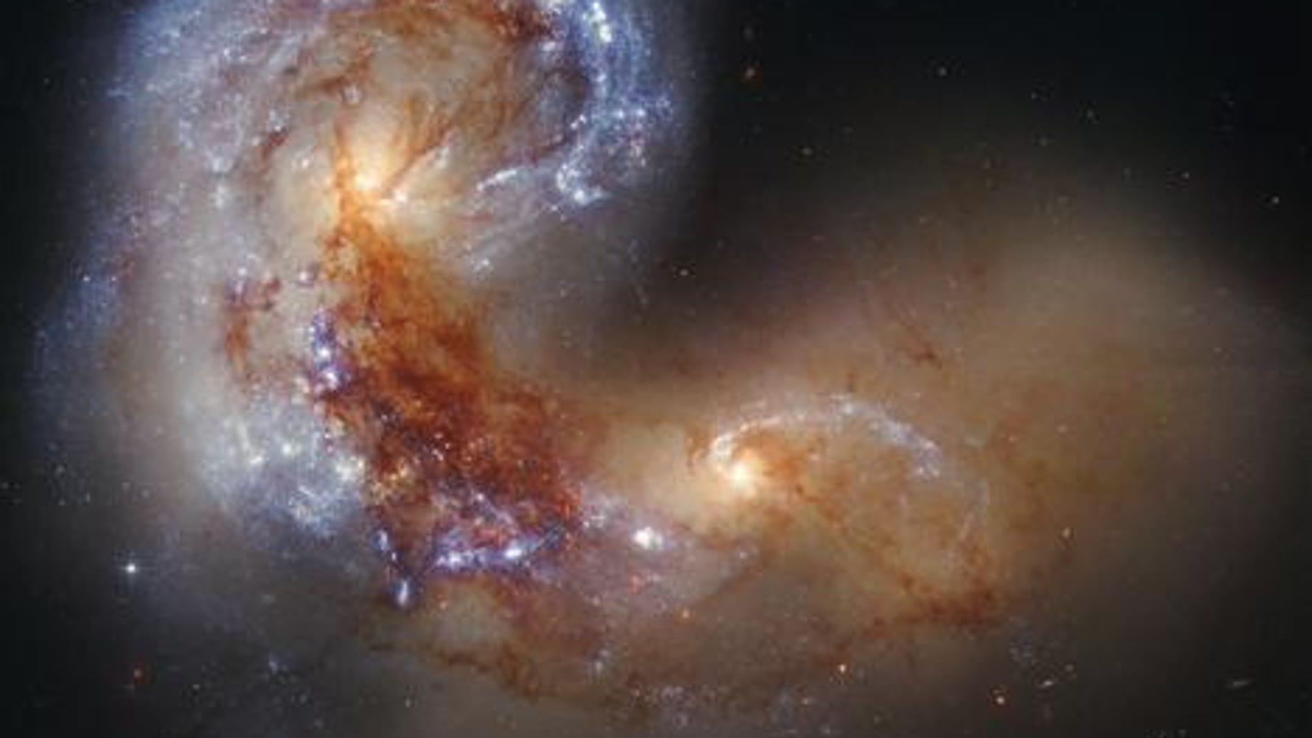 Galaxias NGC 4038/4039. Fuente: NASA