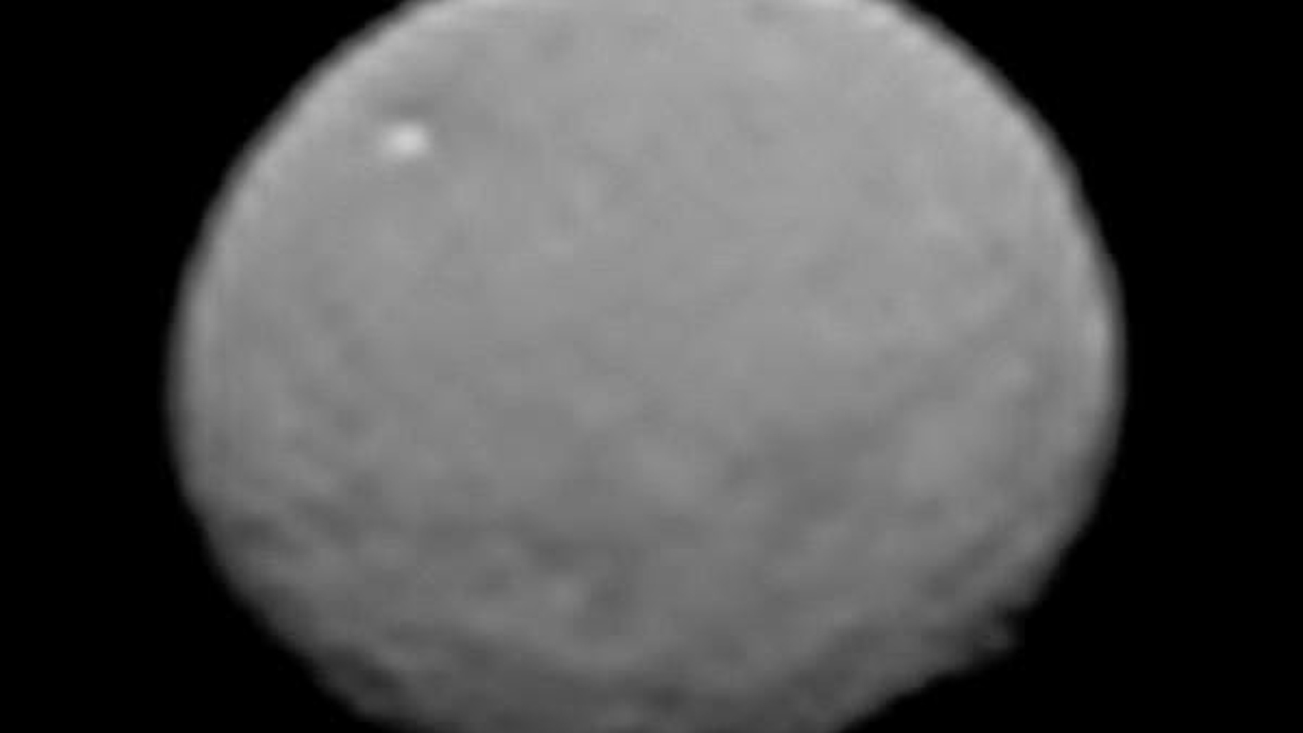 Ceres captado por Dawn el pasado 25 de enero