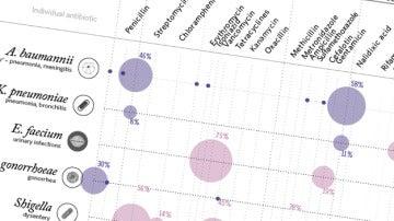Gráfico de resistencia antibiótica