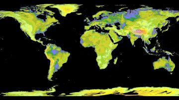 Proyección de tierras emergidas con el calentamiento global