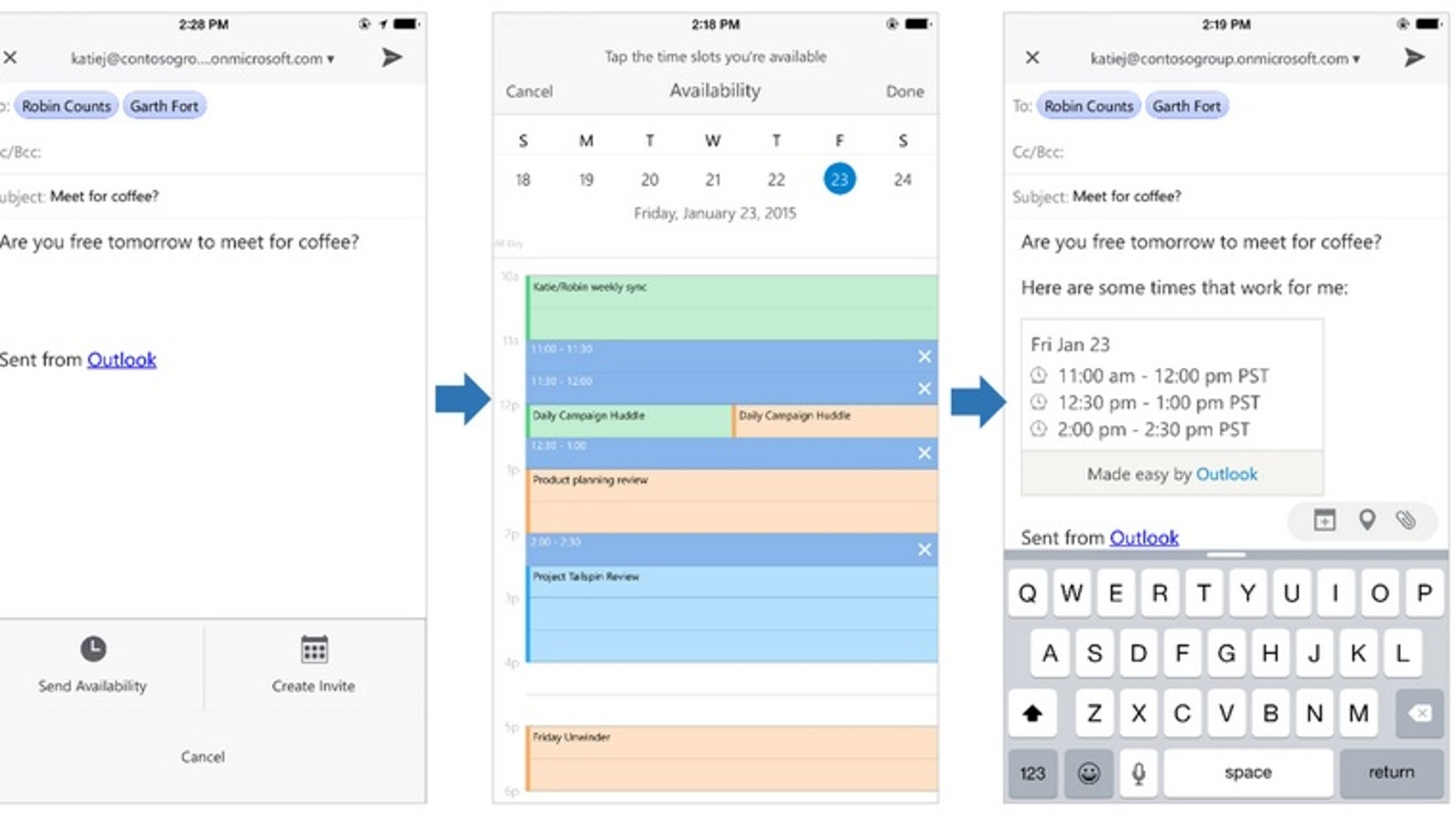 Outlook para iOS y Android