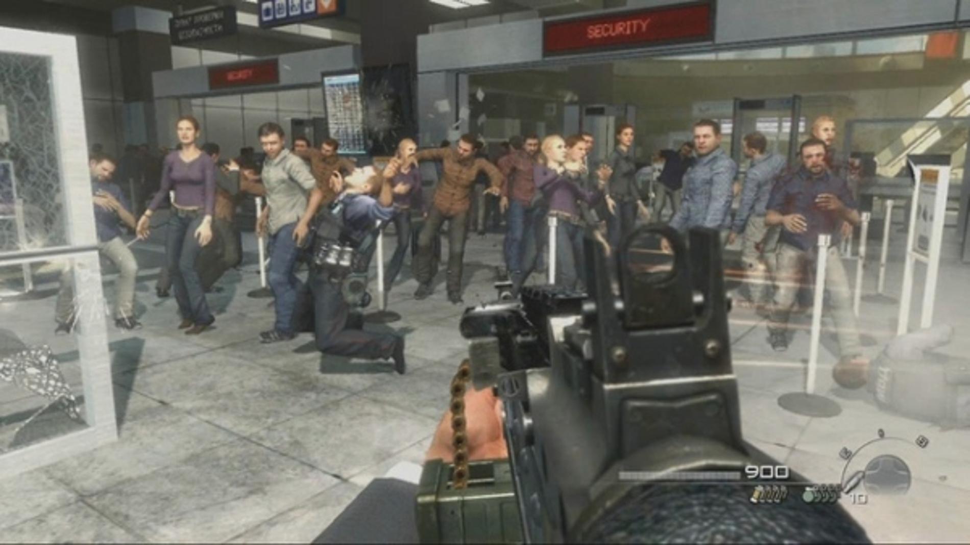 Escena polémica de Call of Duty: Modern Warfare 2. El jugador puede matar civiles