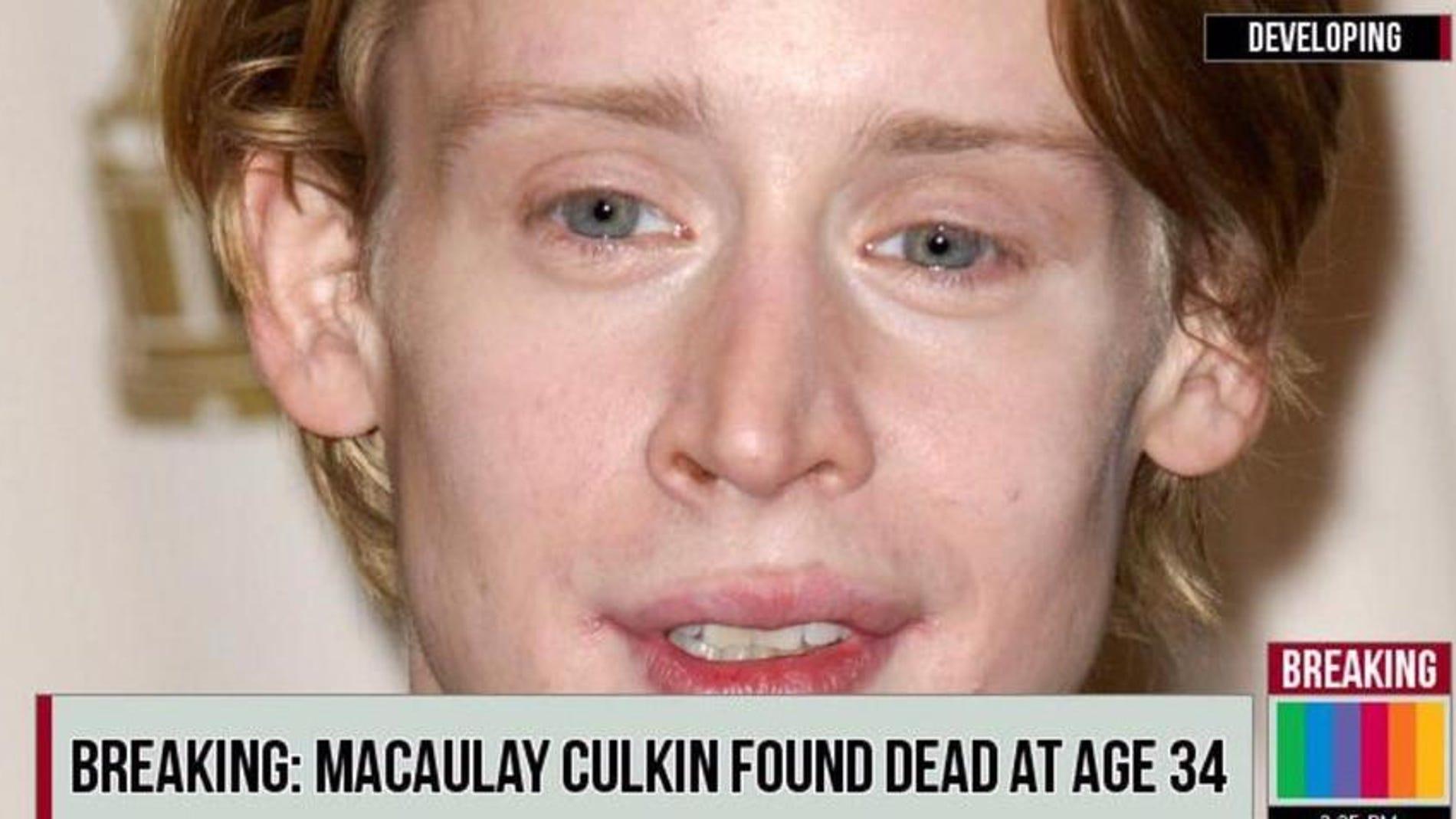 Noticia falsa sobre Macaulay Culkin