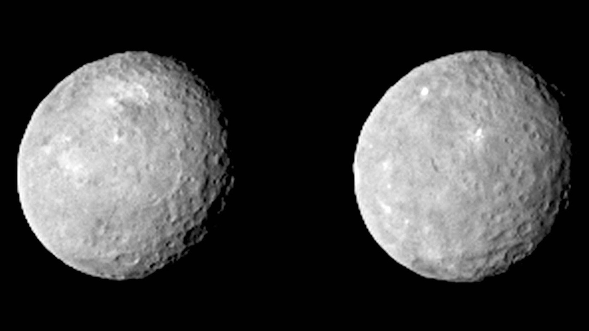 Ceres captado por la sonda Dawn el pasado 12 de febrero a 83.000 Km