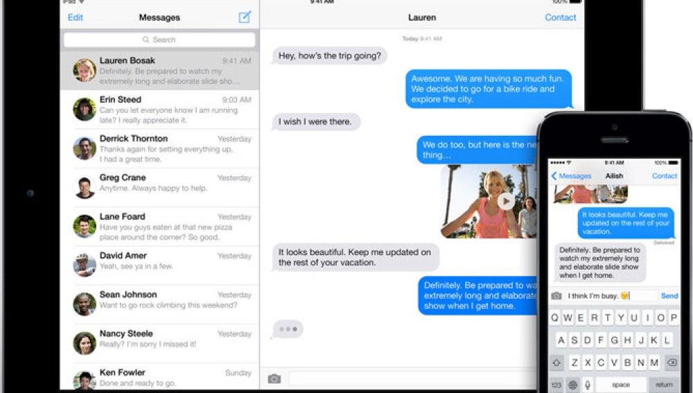 Burbujas de iMessage