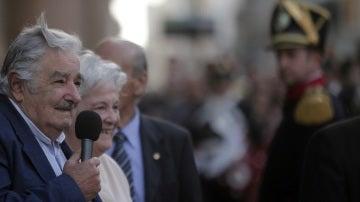 José Mujica en su discurso de despedida en Montevideo