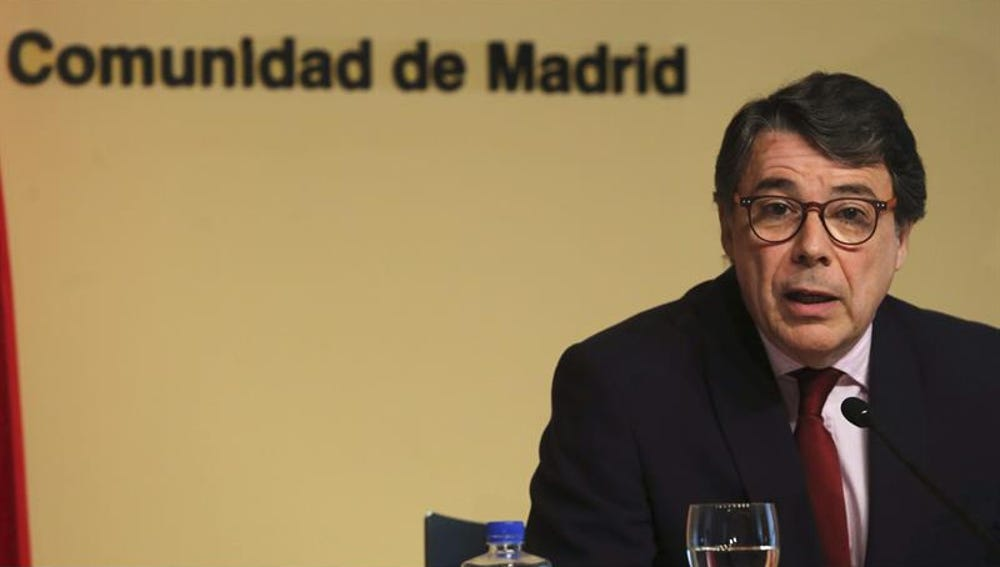 Ignacio González, en rueda de prensa