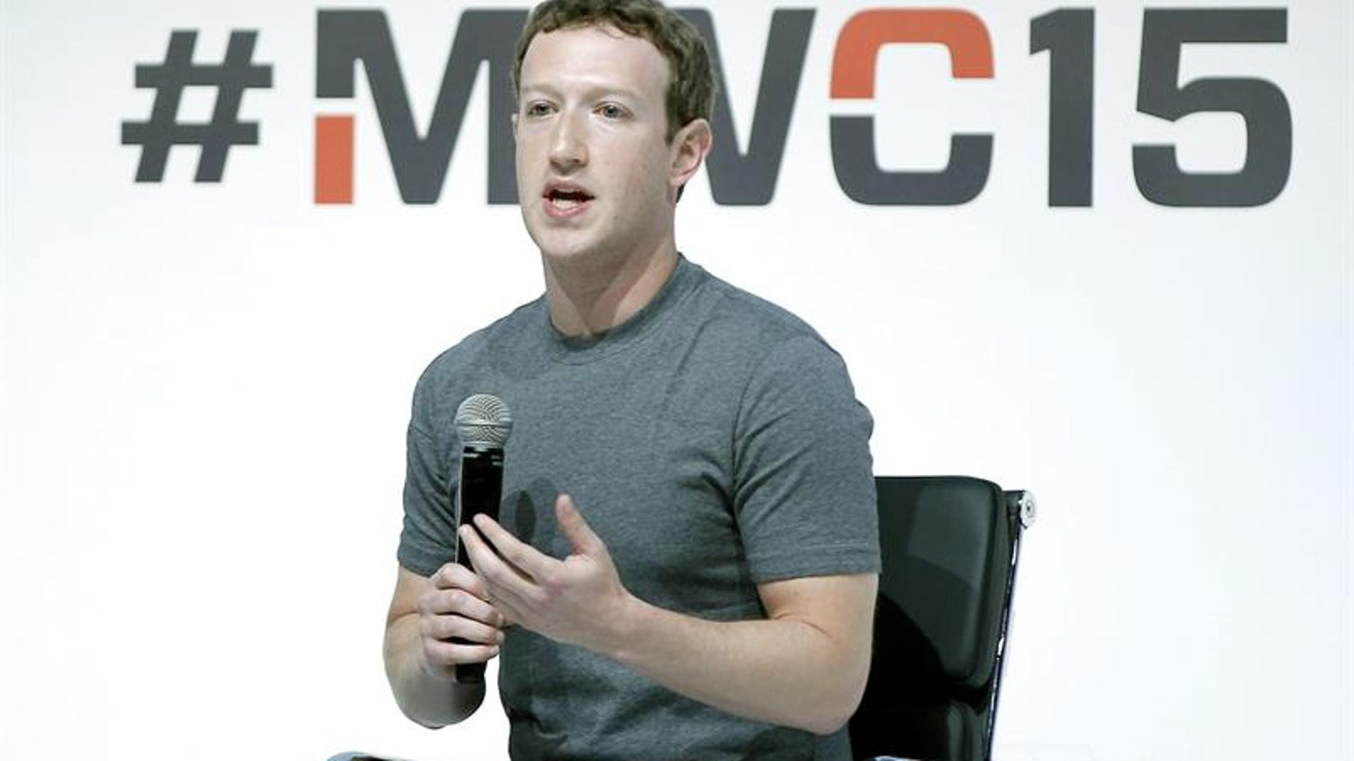 Mark Zuckerberg, en el MWC