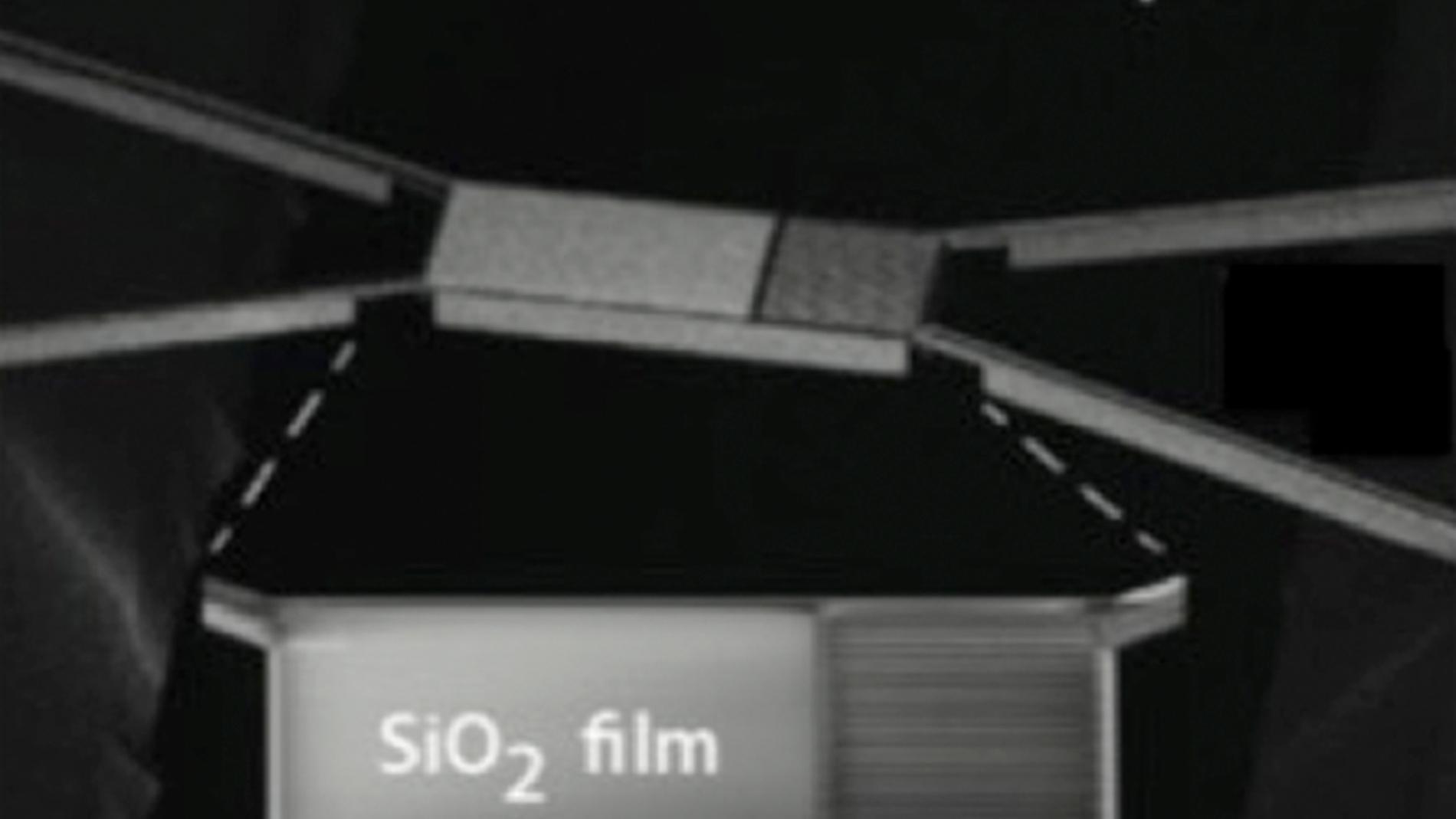 Capas atómicas de oxido de silicio emite