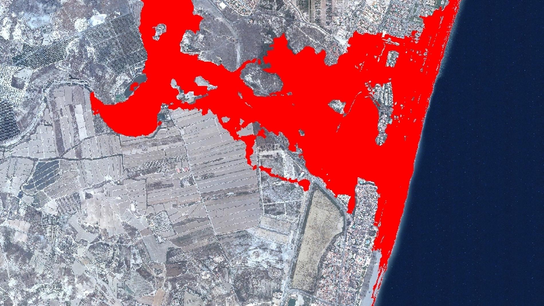 Simulación de zonas inundables en la des