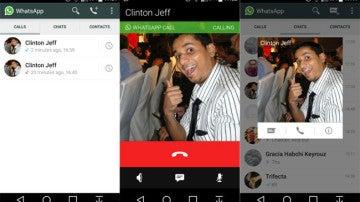Llamadas de voz de Whatsapp