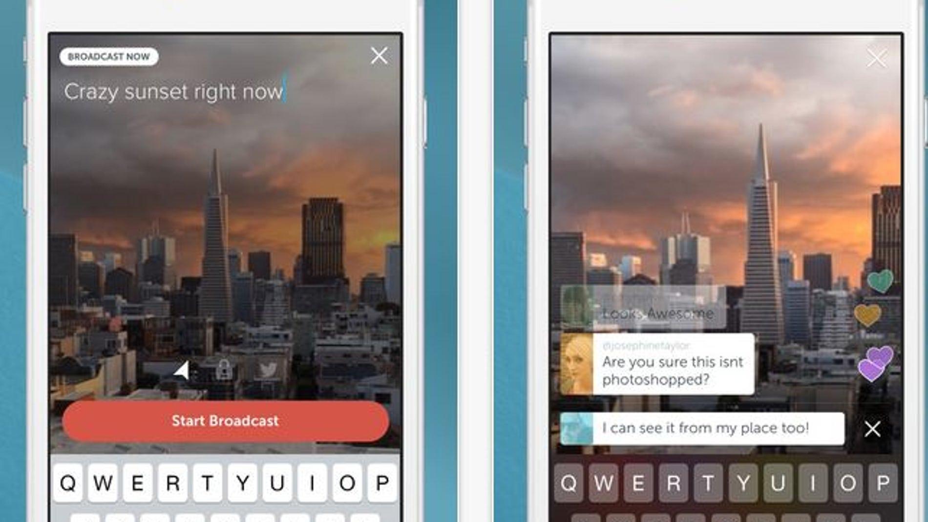Aplicación Periscope para vídeos en streaming