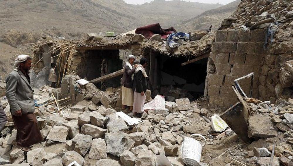 Bombardeo del centro de Saná