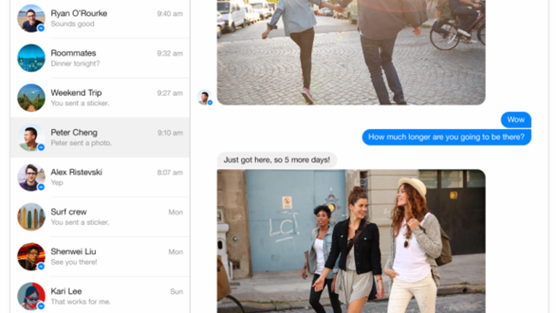 Facebook Messenger versión web