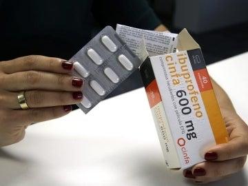 Caja de ibuprofeno