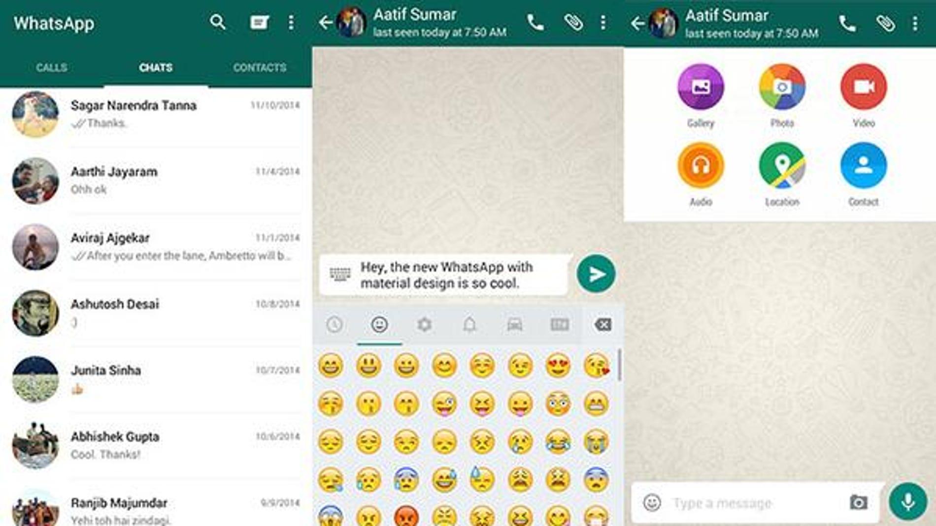 Así será Whatsapp con Material Design