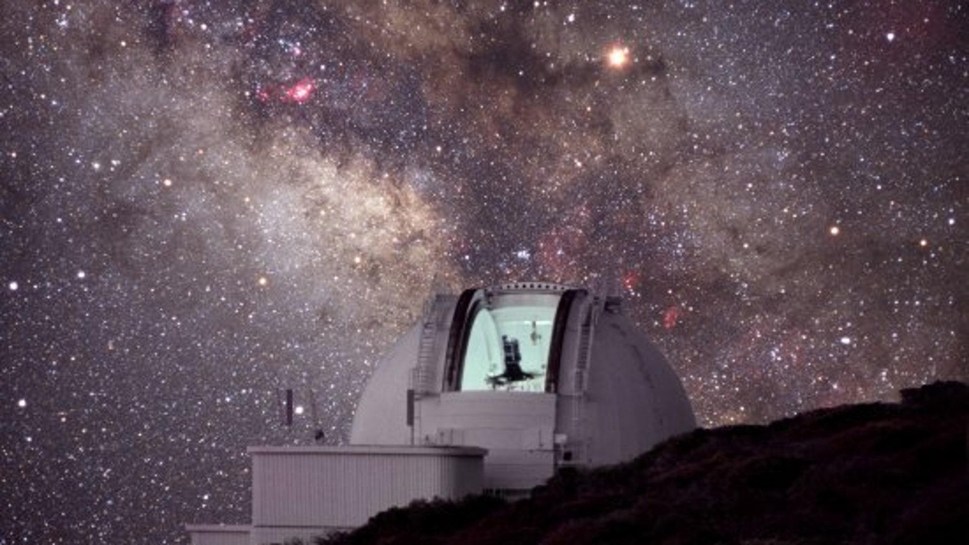 Telescopio Isaac Newton (INT), situado en el Observatorio del Roque de los Muchachos (La Palma)