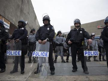 Agentes de policía de Policía en Baltimore