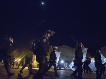 Polícia antidisturbios en EEUU