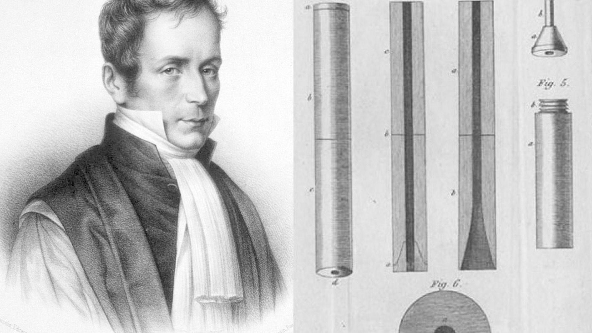 René Laënnec y su primer estetoscopio